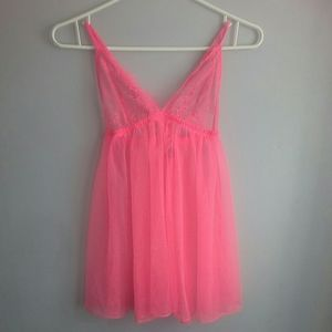 Victoria's Secret Pink Babydoll Lingerie NWT Small